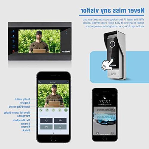 TMEZON 7 Inch Wireless/Wired Video Door Phone Wifi