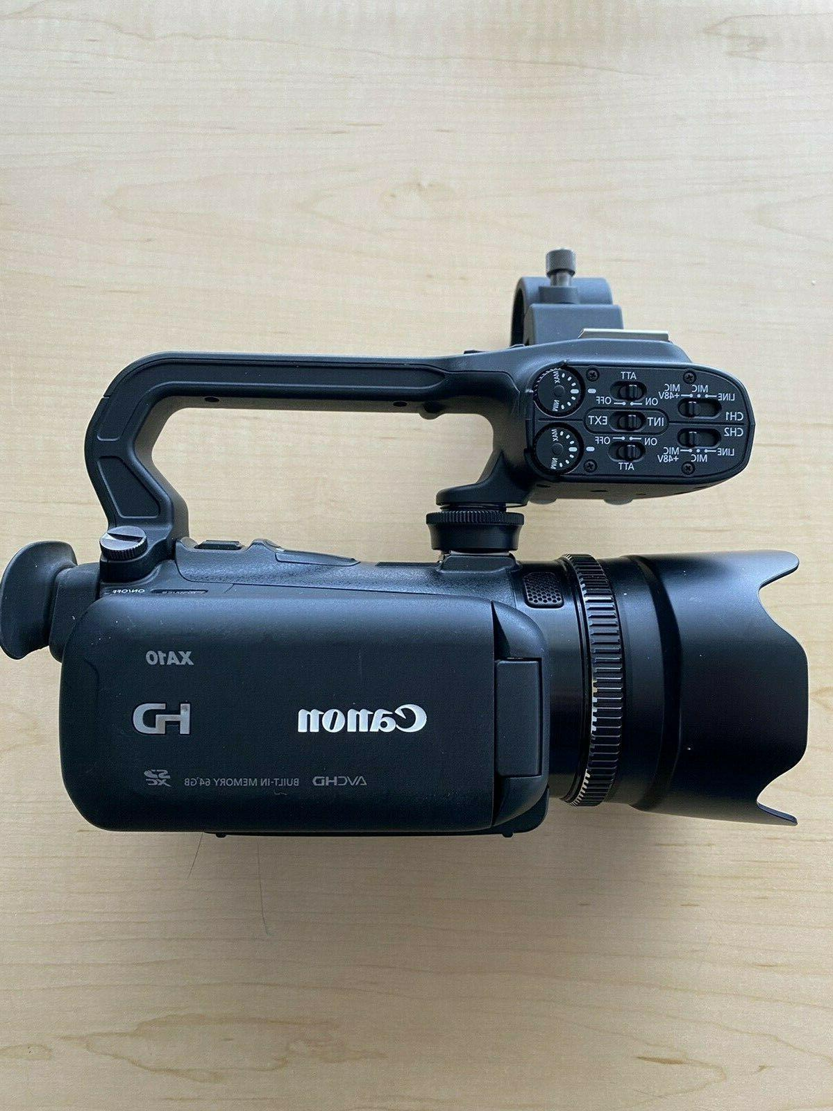 xa10 professional hd video camera in excellent