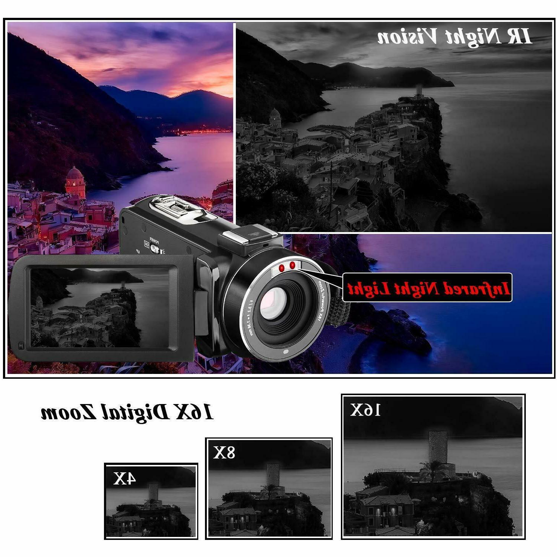 YouTube Vlogging Camera Camcorder 24MP Vision 32GB