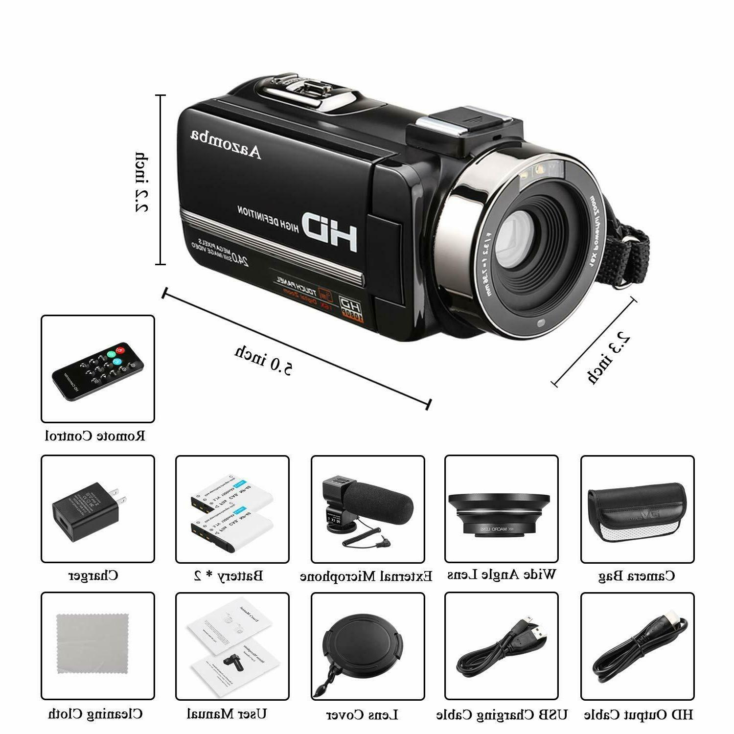 YouTube Camera Camcorder 1080P 24MP 32GB