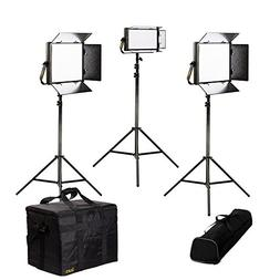 Ikan LB-2F1H Lyra Bi-Color 3-Point LED Soft Panel Light Kit,