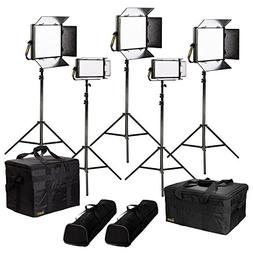 Ikan LB-3F2H Lyra Bi-Color 5-Point LED Soft Panel Light Kit,