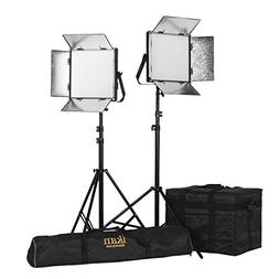 Ikan LB10-2PT-KIT 2-Point Soft Panel LED Light Kit with Gold