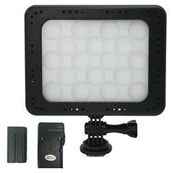 ANDYCINE 5 Inch On Camera Video Led Light 18 Bulbs 5700K Whi