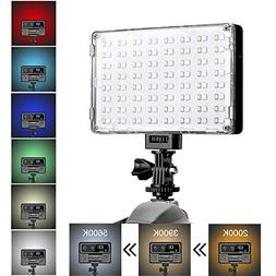 GVM LED Camera Light with Battery Dimmable Full Color RGB Vi