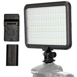 Focus Camera Video Light – 204 LED Dimmable, Ultra Slim an
