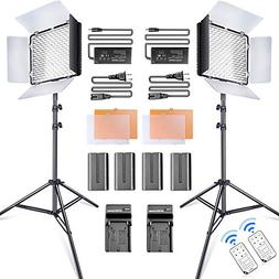 SAMTIAN LED Video Light 600 LED Camera/Studio Light Kit CRI9