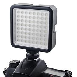 SUKEQ Led Video Light, Ultra Bright LED 64 Continous on Came