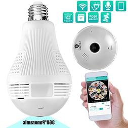 Lenyes Light Bulb Camera 960P Security Hidden with Night Vis
