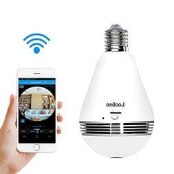 Light Bulb Camera VR Panoramic IP Wireless WiFi Camera Inclu