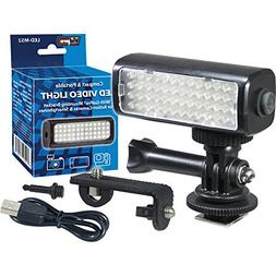 Vidpro LED M52 Video Light 5600K for GoPro, Action Cameras