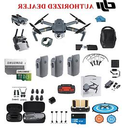DJI Mavic Pro Drone Quadcopter Fly More Combo with 3 Batteri