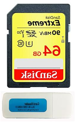 SanDisk 64GB Extreme Memory Card works with Canon EOS Rebel