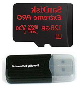 128GB Sandisk Micro SDXC Extreme Pro 4K works with Samsung G