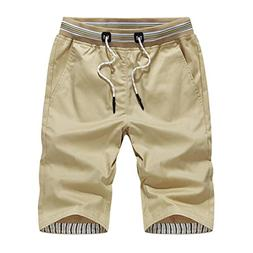 HTHJSCO Men's Linen Casual Classic Fit Short, Mens Shorts Sw