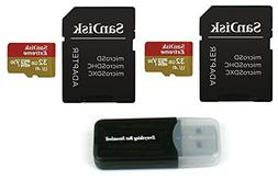 32GB Sandisk Extreme  4K Micro Memory Card  UHD Video Speed