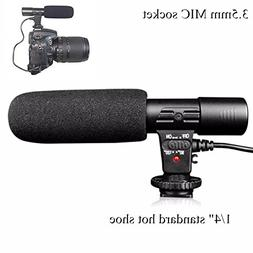 Riqiorod Camera Microphone Mic-01 3.5mm Digital Video on-Cam