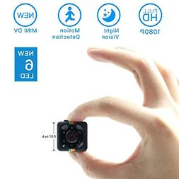 Mini Spy Hidden Camera, Moosoo 1080P/720P Full HD Matte Blac