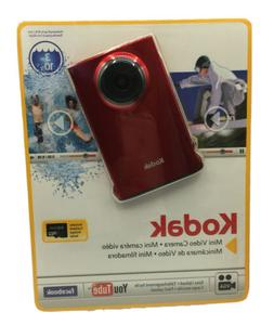 Kodak Mini Video Camera RED with SD Card 2010  New Sealed in