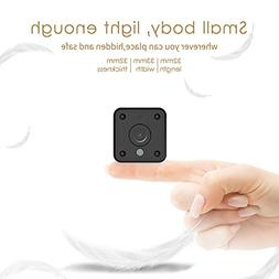 Mini Wifi Spy Camera, Wireless Hidden Camera with Night Visi