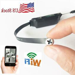 Mini WIFI HD SPY DVR Hidden Pinhole screw Motion Activated V