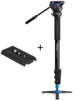 Benro Video Monopod with Flip Lock Legs, S4 Head and 3 Leg B