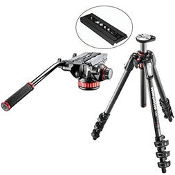 Manfrotto MT190CXPRO4 4 Section Carbon Fiber Tripod Kit with