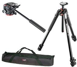 Manfrotto MT190XPRO3 3 Section Aluminum Tripod Kit w/ MHXPRO