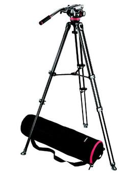 Manfrotto MVK502AM Video Telescoping Twin Leg Kit with 502 V