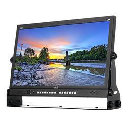 """Ikan 23.8"""" Native Ultra HD 4K Monitor Quad Split Display, Bl"""