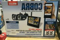 New Cobra 4 Channel Wireless Security System with 2 Cameras