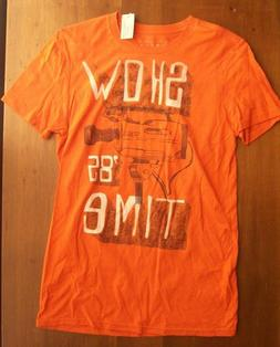 NEW American Eagle Men's Vintage Fit Shirt Tshirt Orange Vid