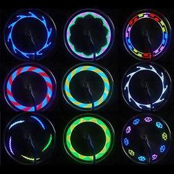 New!DEESEE14 LED Motorcycle Cycling Bicycle Bike Wheel Signa