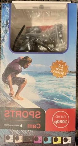 NEW Full HD 1080p Sports Cam Video Camera Waterproof 30M 1.5