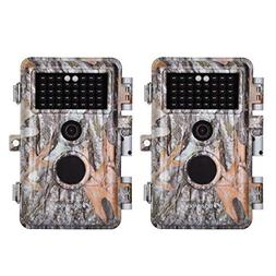 BlazeVideo 2-Pack Game Trail Deer Cameras 16MP 1080P Hunting
