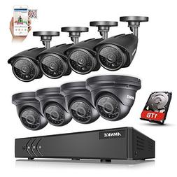 KKmoon Home Surveillance Camera System,8 Channel NVR HD 960H