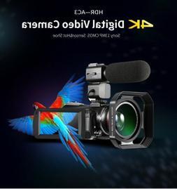 ordro ac3 4k camcorder ultra hd wifi