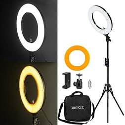 Zomei 14-inch Outer Dimmable SMD LED Ring Light Kit  with 70