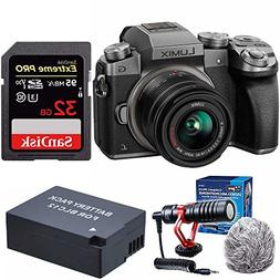 Panasonic LUMIX G7 Mirrorless Digital Camera with 14-42mm le