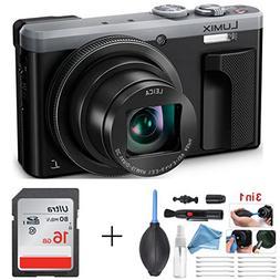 Panasonic LUMIX 4K Digital Camera ZS60 Silver  + 16GB SD Car