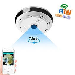 BESDERSEC 360 Degree Panoramic WiFi Camera HD 960P Security
