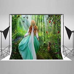 Photo Background Travel in Wonderland Forest 5x7ft Red Apple