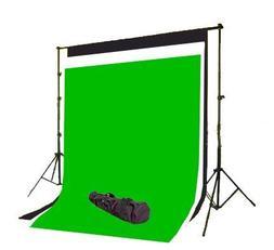 CowboyStudio Photography 6 x 9 ft Black, White & Chromakey G