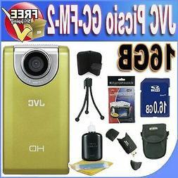 JVC Picsio GC-FM-2 Pocket Video Camera NEWEST VERSION w/16GB