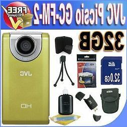 JVC Picsio GC-FM-2 Pocket Video Camera NEWEST VERSION w/32GB