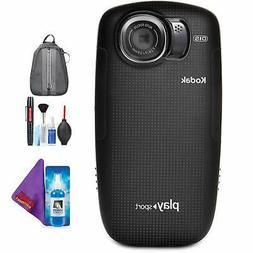Kodak PLAYSPORT Zx5 Video Camera  + Pro Accessories Bundle