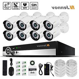 Jennov PoE CCTV Security NVR System 8 Channel 1080P Surveill