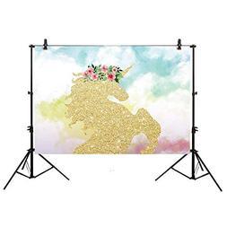 Allenjoy 7x5ft Polyester Children Backdrop Golden Glittering
