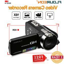 Portable 16X Zoom 24MP 1080P FHD Digital Video Cameras Camco