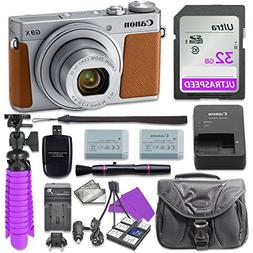 Canon PowerShot G9 X Mark II Digital Camera  with 32GB SD Me
